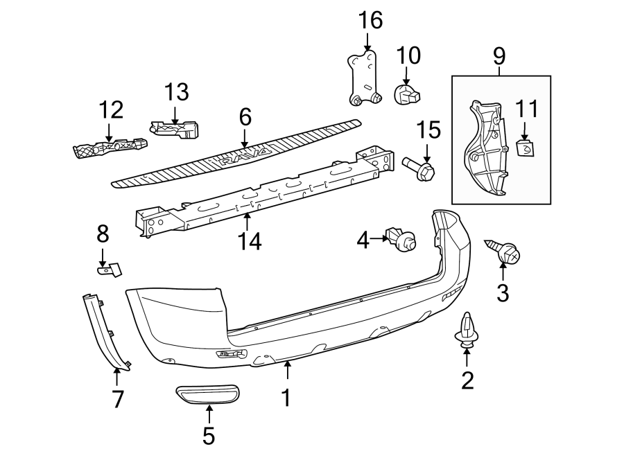 Diagram REAR BUMPER. BUMPER & COMPONENTS. for your 2010 Toyota RAV4 Limited Sport Utility